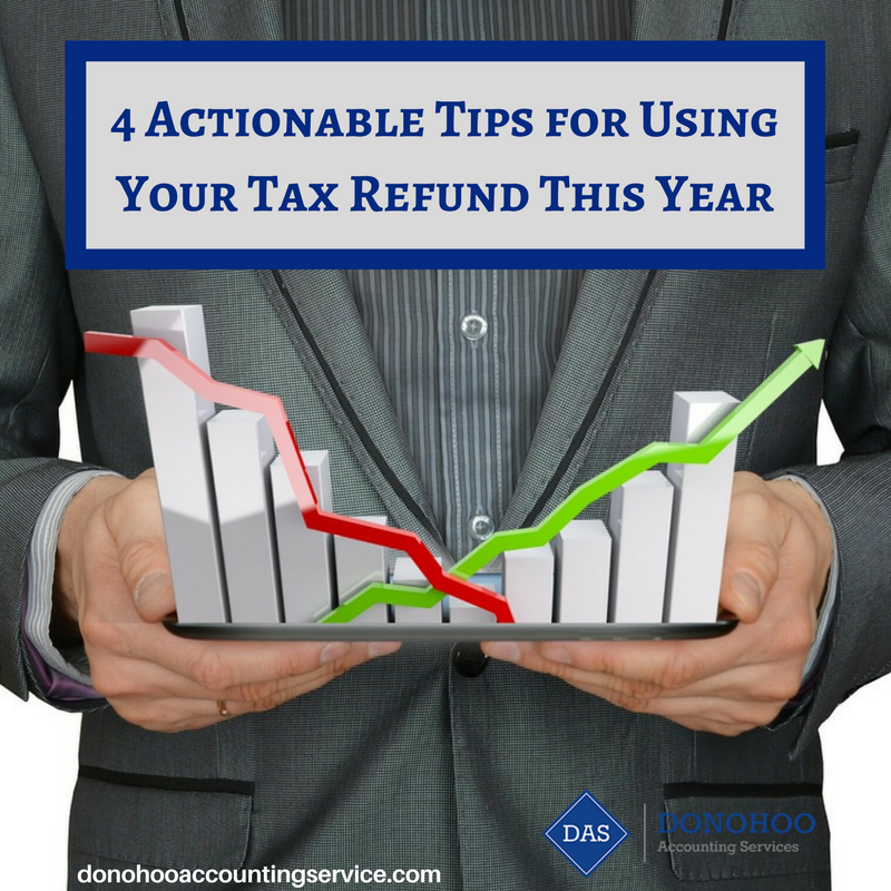 4 Actionable Tips for Using Your Tax Refund This Year