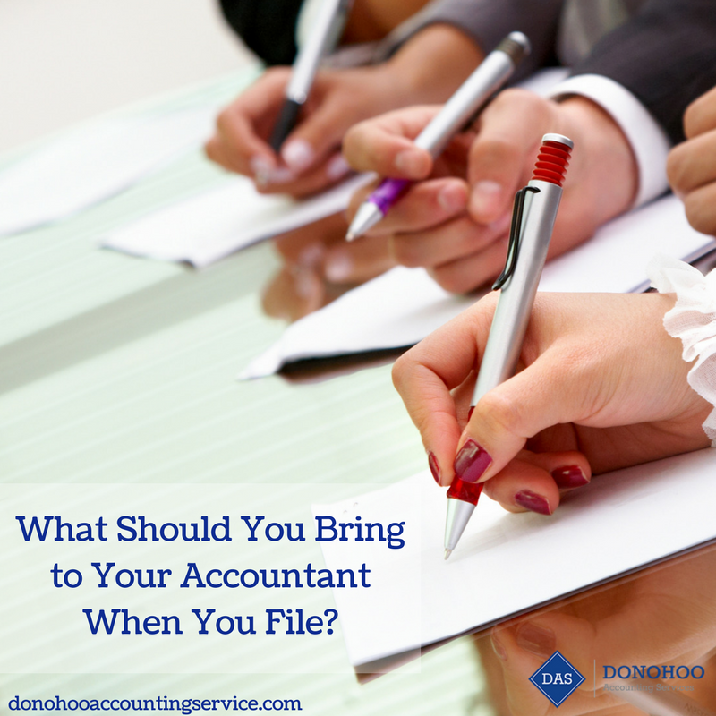 What Should You Bring to Your Accountant When You File?