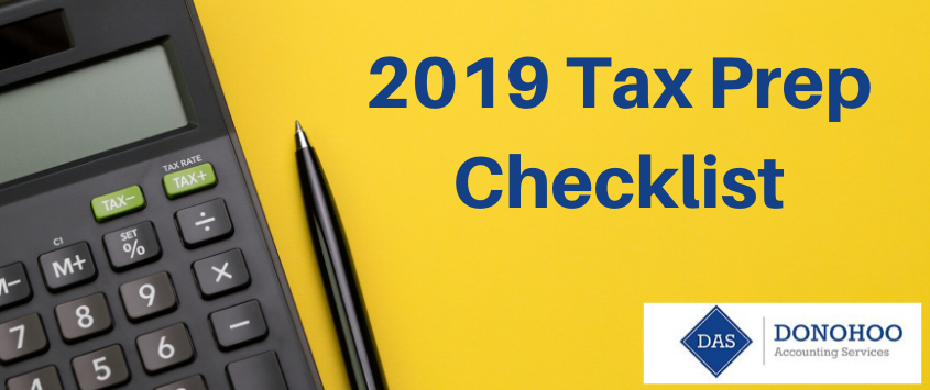 Personal Tax Prep Checklist